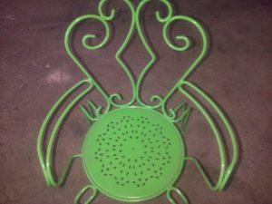 sablage à Anglet et thermolaquage chaise de jardin